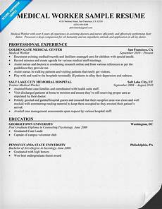 medical worker resume http resumecompanion com health