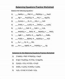 practice balancing equations worksheet sle balancing equations worksheet templates 9 free