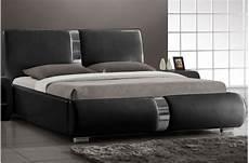 lit design lit design noir vitara 160x200 cm lits design pas cher