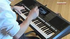 yamaha psr s770 arranger keyboard workstation demo by
