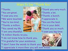 ways to say thank you to on your ways to say thank you materials for learning