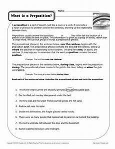 what is a preposition printable worksheet ela middle school what is a preposition