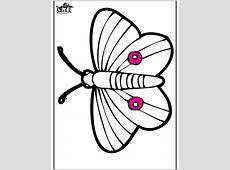 Prikkaart vlinder   Kleurplaat insecten