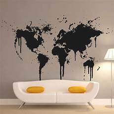 Home Decor Ideas Wall Stickers by New Design Home Decoration Spray Paint World Map Wall