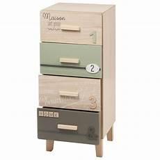 petit meuble de rangement 4 tiroirs germain maisons du monde