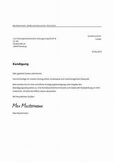 abo kündigung vorlage shz abo k 252 ndigen kostenlose muster vorlage pdf word