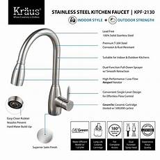 kraus kitchen faucet reviews kraus kpf 2130 single lever stainless steel pull out kitchen faucet review kitchen faucet
