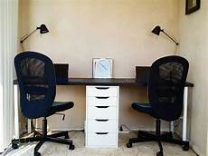 Office Desk 200 by Desk For Two Using Ikea Furniture Linnmon Table Top Black
