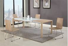 extendable in wood glass top modern dining table sets