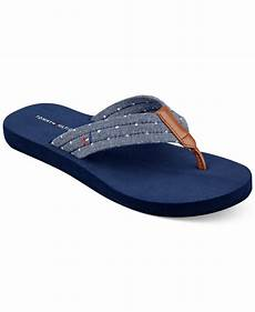 hilfiger s carice flip flops in blue lyst