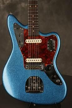 Fender Jaguar Refinished 1962 Blue Sparkle Reverb