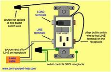 gfci switch outlet wiring diagrams do it yourself help com