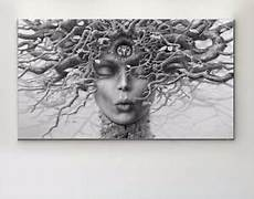 Bild Schwarz Weiß Leinwand - leinwand bild 130x70x5 quot surreal quot kopf natur modern