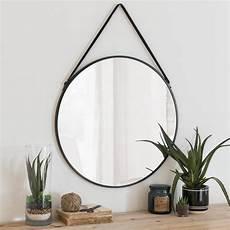 Runder Spiegel Mit Schwarzem Metallrahmen D 55