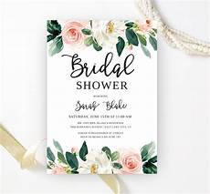 wording your bridal shower invitations floral bridal shower invitations lemonwedding
