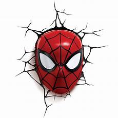 spider man 3d wall light fx marvel spiderman mask 3d deco