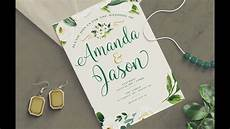 Create Wedding Invitation For Free photoshop tutorial how to create a wedding invitation