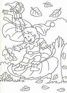 worksheets on new year 19375 en automne les lutins sur les feuilles dekoracijos fall coloring pages coloring sheets
