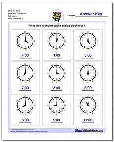 telling time worksheets 20437 hours