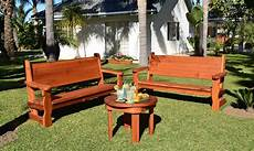 rustic bench with back for garden seating forever redwood