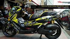 Nmax Modif Stiker by Yamaha Nmax Modifikasi Maximal Horror Skull Yellow Motoblast