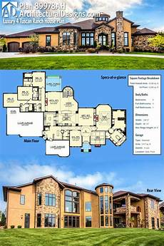 luxury ranch house plans plan 89978ah luxury 4 bed tuscan ranch house plan ranch