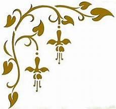 orientalische muster vorlagen kostenlos wandschablonen schablone wandtattoo ornament ecke xl