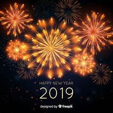 happy new year 2019 background vector free