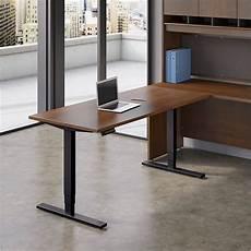 move 80 series 60w height adjustable standing desk in hansen cherry ebay