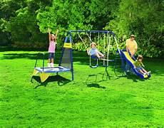 metal swing sets sportspower jump n swing metal backyard swing set