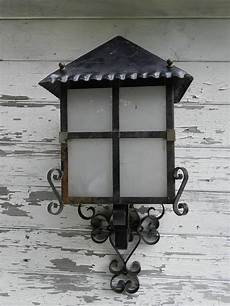 lantern wall light outdoor sconce wrought iron and glass exterior porch for sale at 1stdibs