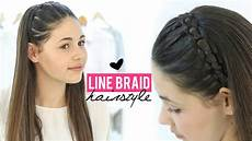 line braid hairstyle tutorial step by step youtube