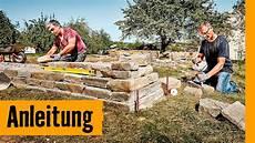 Trockenmauer Bauen Hornbach Meisterschmiede