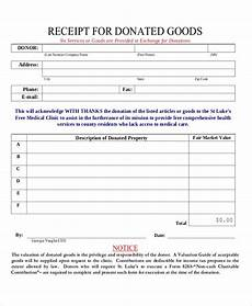 receipt for donation of goods template sle donation receipt 8 documents in pdf
