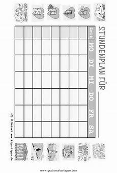 Gratis Malvorlagen Stundenplan Stundenplan 02 Gratis Malvorlage In Diverse Malvorlagen
