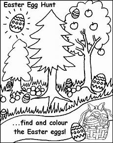 Easter Egg Hunt Coloring Sheets Easter Egg Hunt Free Coloring Pages For Printable
