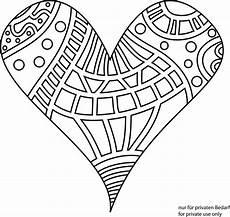 doodle herz ausmalbild mandala zum ausdrucken