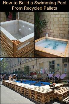 Swimmingpool Aus Paletten - swimming pool from recycled pallets interesting projects