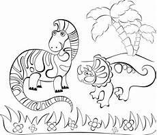 Lustige Dino Ausmalbilder Ausmalbild Dinosaurier Und Steinzeit Zwei Dinos Unter
