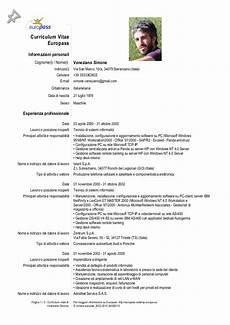 curriculum vitae per europass curriculum vitae