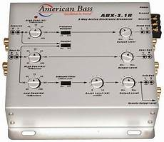 american bass abx31a 3 way active crossover ebay