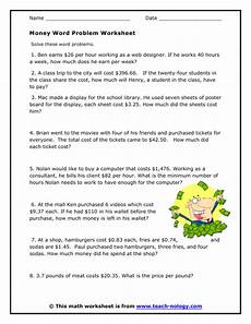 money division worksheets 2114 money problem solving questions grade 4 www gokyuzu org
