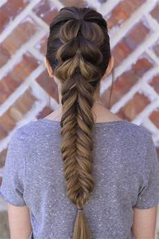 pull through fishtail braid combo cute girls hairstyles