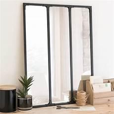 Dreigeteilter Spiegel Mit Schwarzem Metallrahmen 60x80
