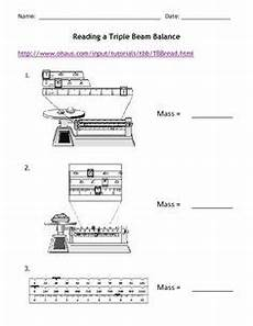 science basics reading a triple beam balance worksheet packet from activitiestoteach on