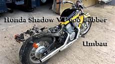 honda shadow bobber build umbau part 1