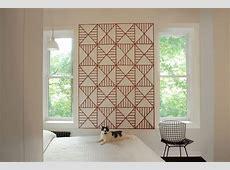 geometric large wall art bedroom between windows   Home