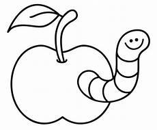 Ausmalbild Igel Apfel Ausmalbild Tiere Kostenlose Malvorlage Wurm Im Apfel