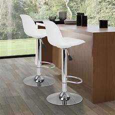 lot de 2 tabourets de bar design blanc pas cher karl