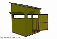 deer shooting house plans 5x5 shooting house plans myoutdoorplans free